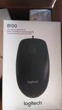 Мышка компьютерная новая Logitech B100 black, фото №2