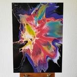 Картина/ живопис/ абстракція Fluid Art #65 acrylic, фото №3