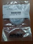 Плезиозавр 20 франков 2020 Серебро APMEX, фото №5