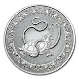 Новинка. Черная черепаха 2 доллара 2021 Серебро 1oz 999 Небесные животные, фото №2