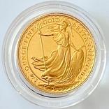 25 фунтов. 1988. Стоящая Британия. Елизавета II (золото 917, 1/4 унции), фото №9