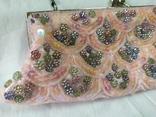 Нарядная сумочка клатч расшитая бисеоом, пайетками. Charlotte Reid. Англия. 25х11см, фото №3