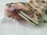 Нарядная сумочка клатч расшитая бисеоом, пайетками. Charlotte Reid. Англия. 25х11см, фото №8