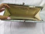 Клатч бледно-мятного цвета. на каркасной основе. 27х14см, фото №9