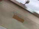 Клатч бледно-мятного цвета. на каркасной основе. 27х14см, фото №12