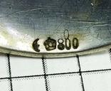 Ложка серебро 800 проба, с гербом., фото №5