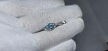 Серебряная подвеска с природным топазом в позолоте, фото №3