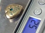 Кулончик под фото. Глубокий СССР. Серебро с позолотой. 875 пр.с головой., фото №9