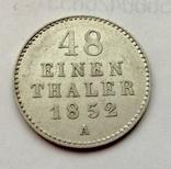 Германия Мекленбург-Шверин 1/48 талера 1852 год, фото №2