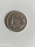 6 пенсов 1950 год. Австралия. серебро., фото №3