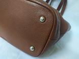 Кожаная женская сумочка. Плотная мясистая кожа. Англия. Без ручек 30х13х19см, фото №6