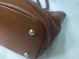 Кожаная женская сумочка. Плотная мясистая кожа. Англия. Без ручек 30х13х19см, фото №8