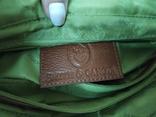 Кожаная женская сумочка. Плотная мясистая кожа. Англия. Без ручек 30х13х19см, фото №13