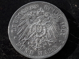 5 марок 1907 года ВЮРТЕМБЕРГ, фото №3