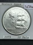 Самоа 10 тала 1979 корабль серебро, фото №2