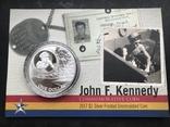 1 доллар 2017 Соломоновы Острова Джон Кеннеди серебро унция 0.999, фото №2
