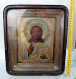 Икона Господь вседержитель (25см х 30см) под реставрацию, фото №3