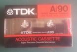 Винтаж. аудиокассета TDK A-90/ Япония., фото №2