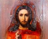 """Икона """"Господь Вседержитель"""" (22см х 25см) - под реставрацию, фото №12"""