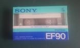 Винтажная аудиокассета Sony EF90. Япония, фото №2