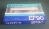 Винтажная аудиокассета Sony EF90. Япония, фото №3