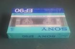 Винтажная аудиокассета Sony EF90. Япония, фото №5