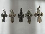 Кресты 925 пробы 5 штук, фото №2