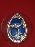 5 долларов острова Кука серебро яйцо Фаберже, фото №2