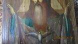 Большая икона 43 x 33,5см Бог Отец и Святой Дух, фото №7