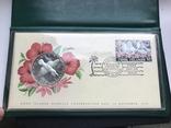 5 долларов Острова Кука 1976 в конверте с маркой первого дня гашения, фото №2