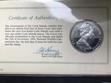 5 долларов Острова Кука 1976 в конверте с маркой первого дня гашения, фото №3