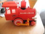 Игрушечный советский паровоз, пластмасса., фото №4