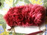 Сумка клатч натуральное перо, фото №2