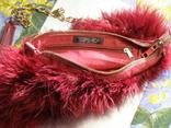 Сумка клатч натуральное перо, фото №4