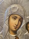 Икона Смоленской Божьей Матери. Серебро 84 начало XX века, фото №4