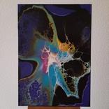 Картина/ живопис/ абстракція Fluid Art #66 acrylic, фото №5