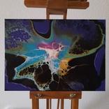 Картина/ живопис/ абстракція Fluid Art #66 acrylic, фото №6