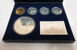 Набор монет золото и серебро 250гр и 27 грамм 400 Евро Христофор Колумб Испания 2006, фото №2