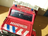 Unimog 437.1 пожарная 1:50 Hongwell Cararama, фото №11