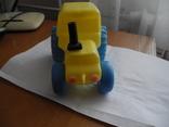 Детский пластмассовый трактор СССР., фото №3