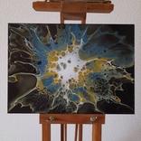 Картина/ живопис/ абстракція Fluid Art #67 acrylic, фото №4