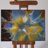 Картина/ живопис/ абстракція Fluid Art #68 acrylic, фото №4