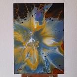 Картина/ живопис/ абстракція Fluid Art #68 acrylic, фото №5