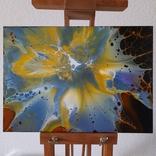 Картина/ живопис/ абстракція Fluid Art #68 acrylic, фото №6
