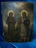Икона два святых. Дерево, письмо, фото №4