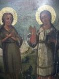 Икона два святых. Дерево, письмо, фото №6