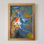 Картина/ живопис/ абстракція Fluid Art #69 acrylic, фото №2