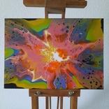 Картина/ живопис/ абстракція Fluid Art #70 acrylic, фото №6