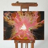 Картина/ живопис/ абстракція Fluid Art #71 acrylic, фото №4