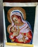 Вышитая икона ручная работа Богородица, фото №2